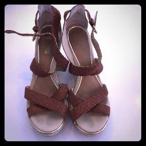 Sperry platform wedge sandals